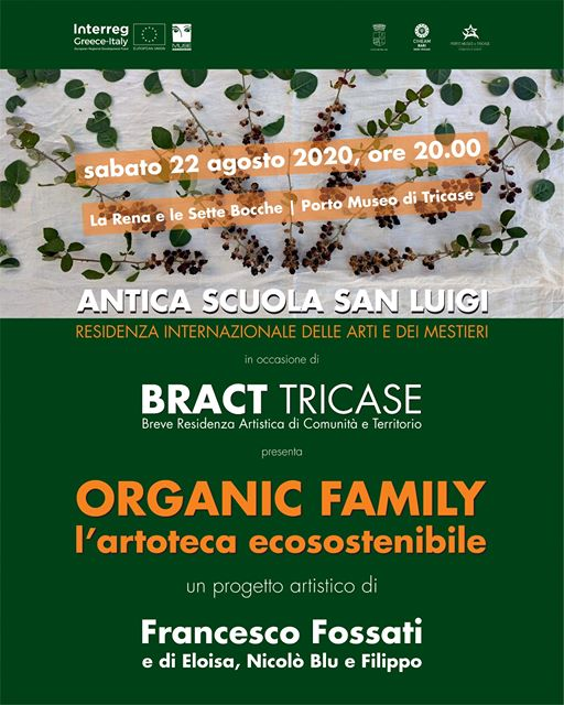 BRACT tricase presenta Organic Family, sabato 22 agosto